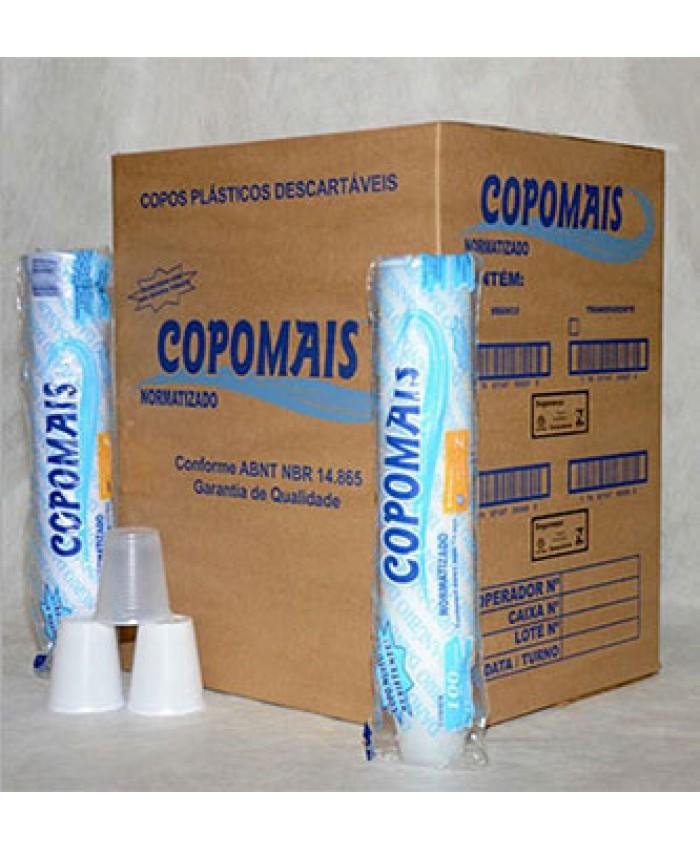 COPO PLAST.DESCART. 180 ML PCT C/100