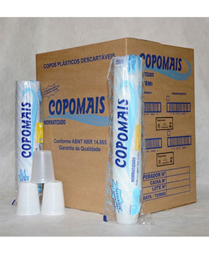 COPO PLAST.DESCART. 250 ML PCT C/100